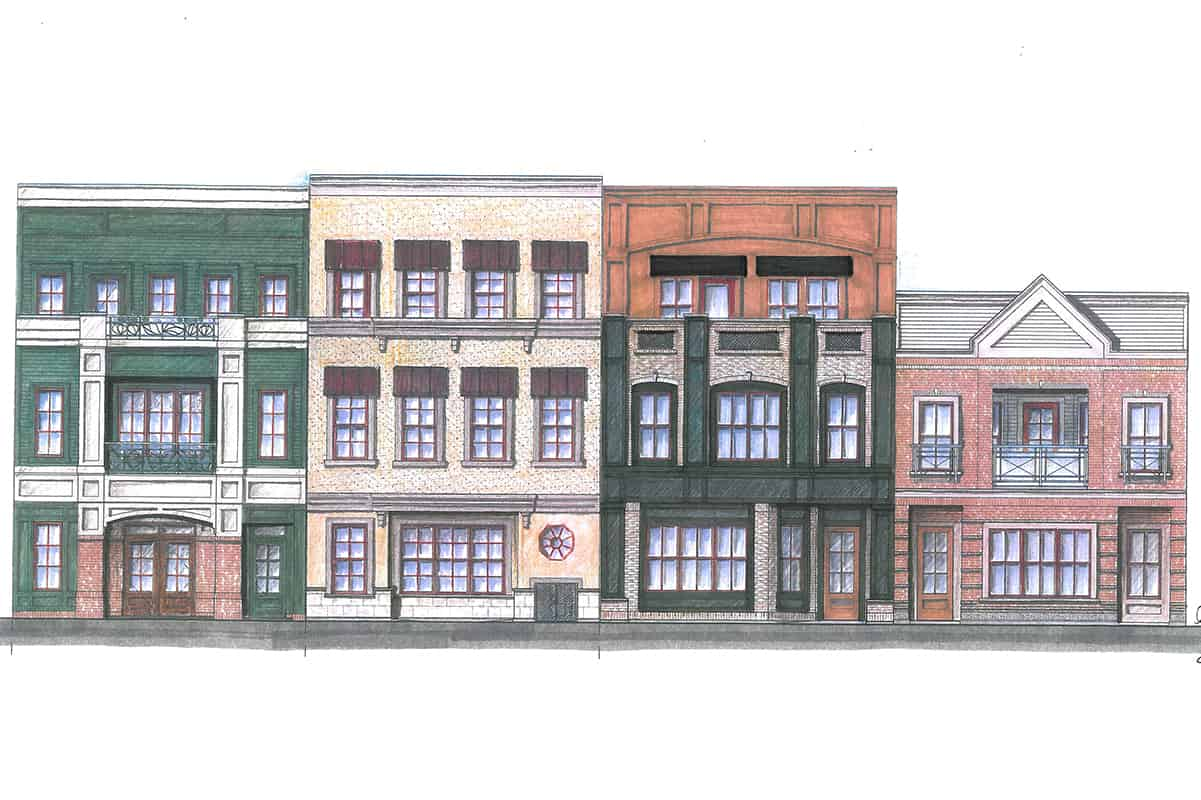 4 Ave High River mixed use building